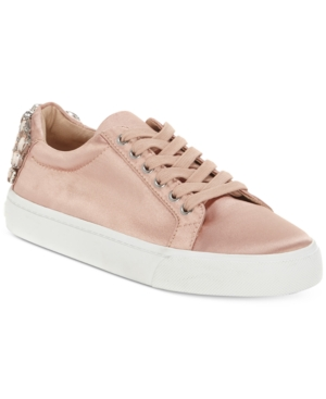 INC International Concepts Saiya Sneakers Created For Macy's Women's Shoes Blush Satin x5JyFqe5