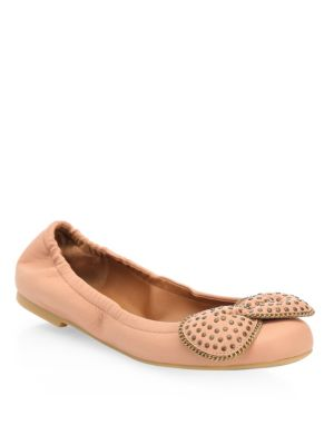 See by Chloe Studded Leather Ballet Flats Black Rosellina A2iiJxk