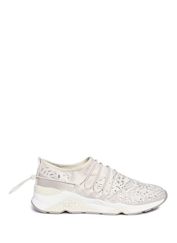 Ash 'Miss Flora' Studded Lace Sneakers White MUobmCzcZ