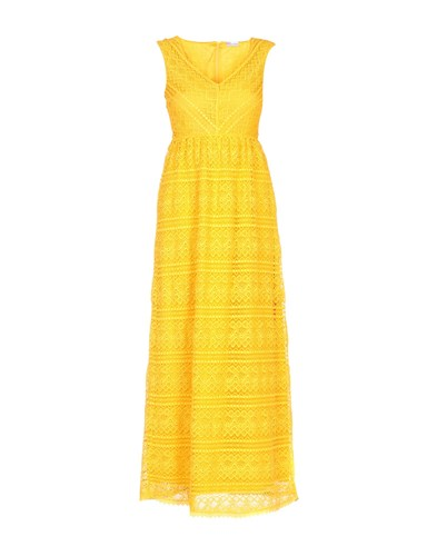 RED Valentino Redvalentino Long Dresses Yellow 5AO1yPAK