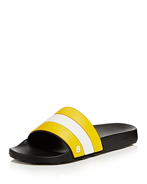 Bally Sleter Pool Slide Sandals Kodak Yellow White X5wRi6z