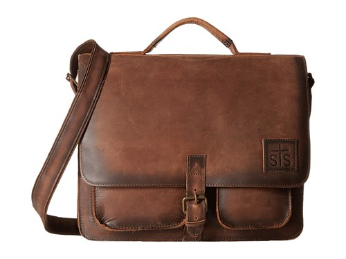 STS Ranchwear The Foreman Messenger Brown Leather Messenger Bags j2H2S