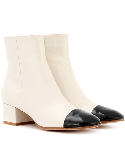 Gianvito Rossi Patent Leather Boots White uMrGit4t