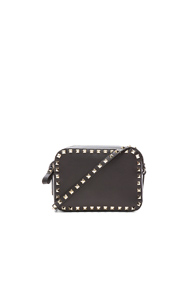 Valentino Rockstud Cross Body Bag In Black 23PgnpUy