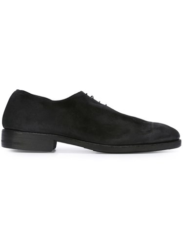 Guidi Distressed Lace Up Shoes Black TgivtBUQAL