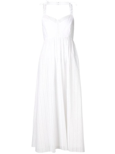 Dress Embroidered Flared Embroidered Thakoon Flared White White Dress Thakoon wWyqg0WPa