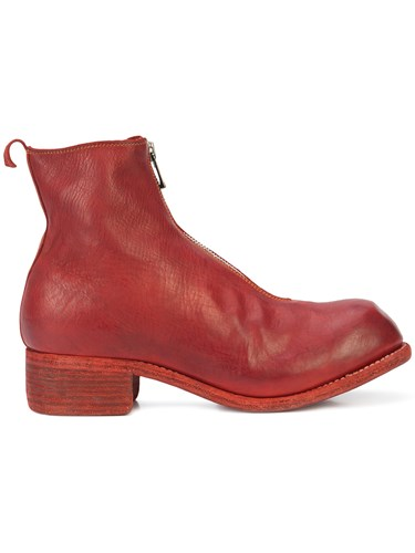 Guidi Front Zip Boots Red aRYIL