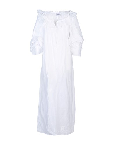 Thierry Colson Long Dresses White kwYigtO2wi