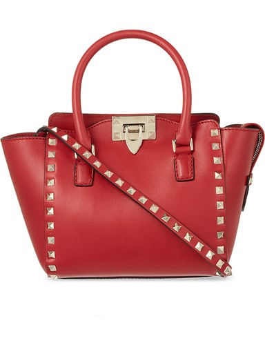 Valentino Rockstud Mini Leather Tote Red ttbhIgrZ4F