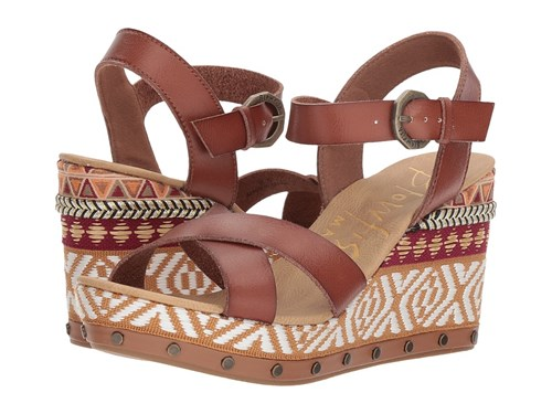Blowfish Tickle B Clay Dyecut Pu Wedge Shoes Brown LZXSG