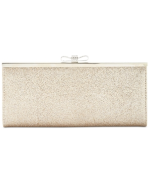 INC International Concepts Carolyn Glitter Clutch Only At Macy's Gold 2sD41