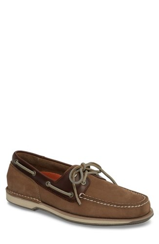 Rockport 'Perth' Boat Shoe Taupe Leather IoBiENED