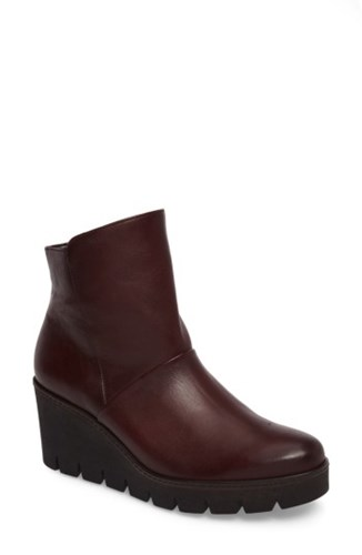 Gabor Women's Wedge Bootie Merlot Leather oK9tIU