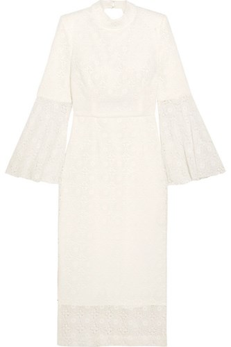 Rebecca Vallance Mireya Open Back Lace Midi Dress Ivory 1YbBG6NY3P