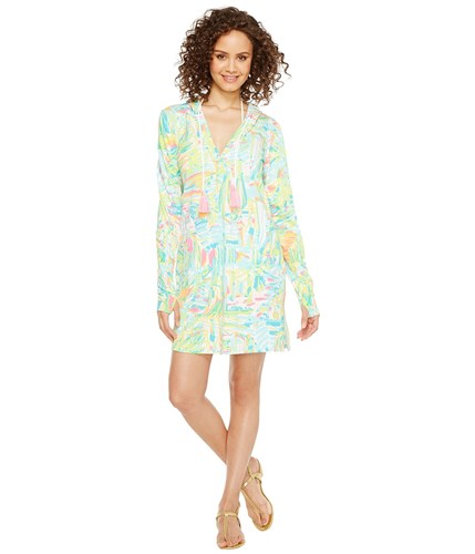 Lilly Pulitzer Upf 50 Rylie Cover Up Dress Multi Sea Salt And Sun Green 6MBg3k6afv
