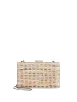 Calvin Klein Woven Convertible Clutch Tan 9a6aRYLvA