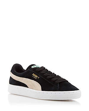 Puma Lace Up Sneakers Suede Classic Black NBNrkOjD