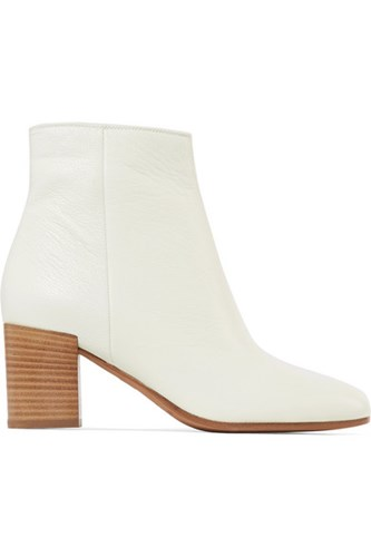 Vince Blakely Textured Leather Ankle Boots Off White m6uMx1aQ