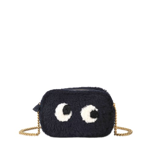 Anya Hindmarch Crossbody Mini Eyes In Shearling PaiLP