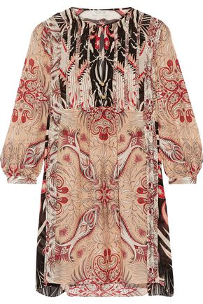 Rachel Zoe Lucia Printed Silk Crepe De Chine Mini Dress Pink KkhNnwSWLD