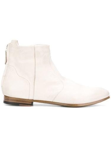 Silvano Sassetti Back Zip Ankle Boots White lZRS7g8