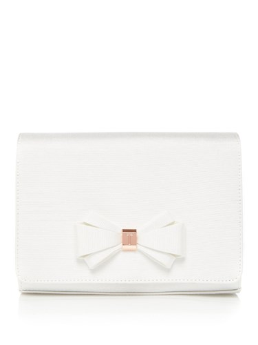 Ted Baker Kiana Bow Clutch Bag White NXwGp