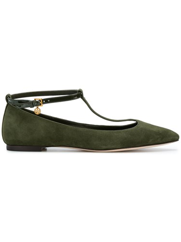 Green Burch Ballerina Jane Tory Shoes Leather Mary Owavq