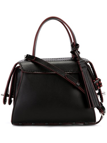 Tod's Small Piped Tote Black vyHoGhFmlj
