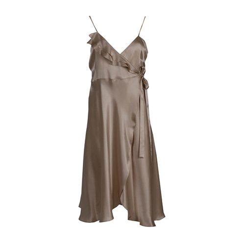Roses Are Red Aloise Silk Dress In Golden Beige Gold Neutrals ju8nMIV