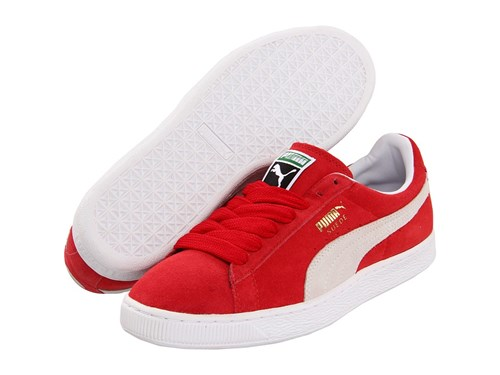 Puma Suede Classic Team Regal Red White Shoes lsWUI