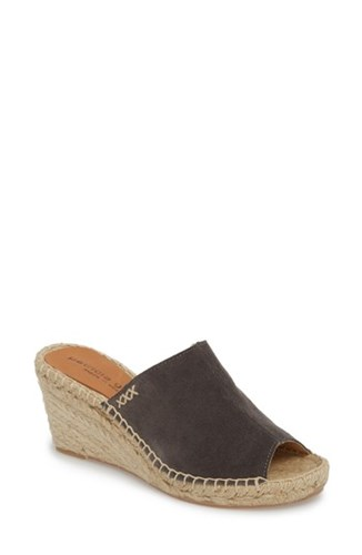 Patricia Green 'S Shen Espadrille Mule Charcoal Suede AW68WN98