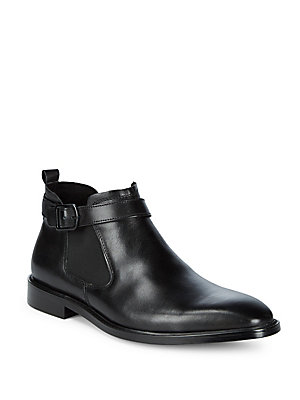 Cole Black Leather Ankle Boots Kenneth aq86wT
