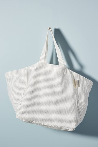 The Beach People Simple Linen Tote Bag Blue Hc2B9p8UeS