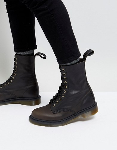 Dr. Martens Dr 10 Eye Tall Boots In Black 3julIeB