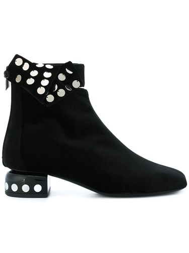 Pierre Hardy Polka Dot Sequin Boots Leather Velvet Black NhiLVLW3t