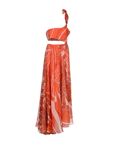 Pinko Long Dresses Orange qlmKMcPt