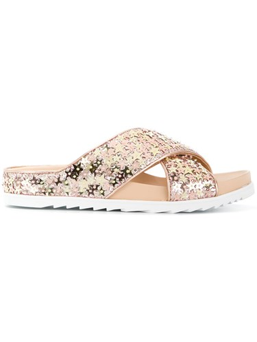 Ash Star Applique Sandals Metallic fDaxu8GK3E