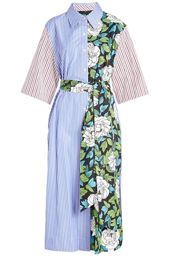 Diane von Furstenberg Printed Cotton Dress Stripes z1UWDh