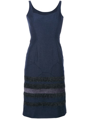 John Galliano Vintage Stripes Panelled Dress Blue JE5ZPzXq