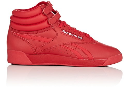 Reebok Women's Freestyle Hi Leather Sneakers Red NHgKIBon