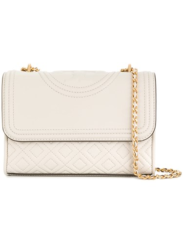 Tory Burch Quilted Foldover Shoulder Bag White vbHHJ56jn