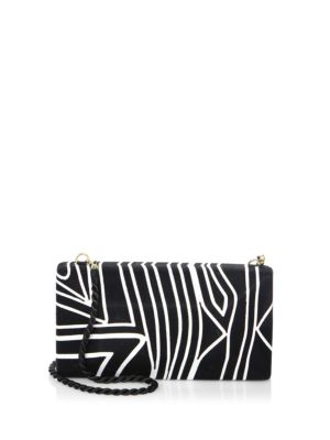 BEATRIZ Colorblock Large Convertible Clutch Black ImftKGw