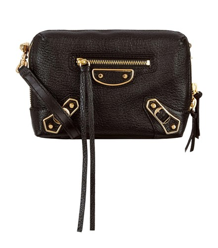 Balenciaga Reporter Cross Body Bag Black KNiaCLevfD