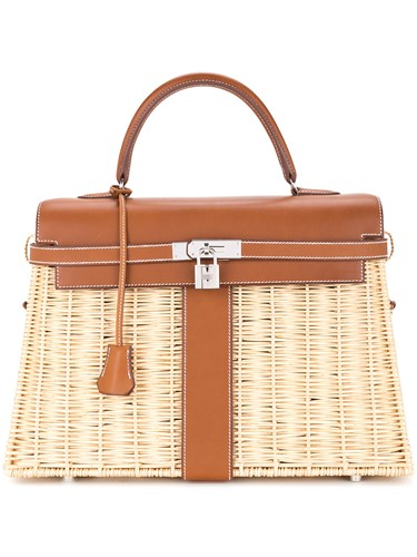 Hermes Vintage Kelly Picnic Bag Brown CPoO6u