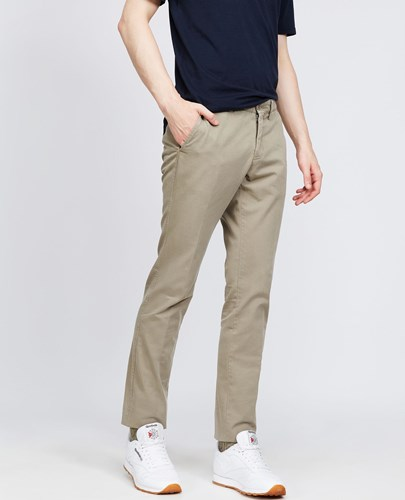 Garment Dyed Cotton Trousers Secco Super Slim Sand