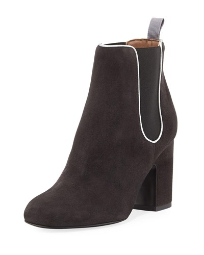 Laurence Dacade Gored Suede 70Mm Bootie Black 7LRUlXnlv8
