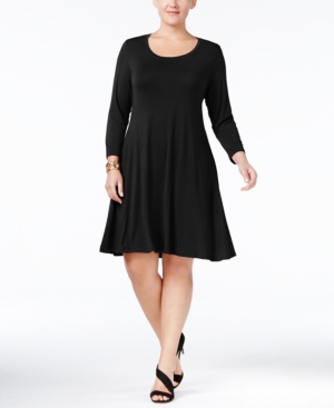 Style&co. Style Co. Plus Size Swing Dress Only At Macy's Deep Black CjQpFW