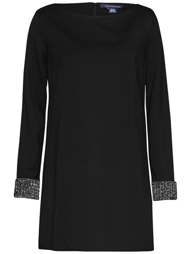 Long Black Tunic Sleeve Crystal French Connection Dress xwYvIIE