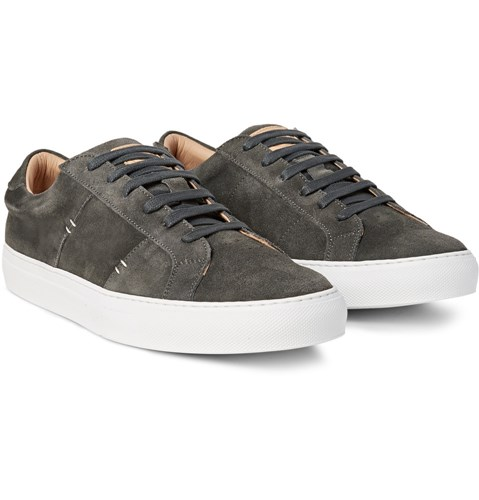 The Royale Suede Sneakers Charcoal