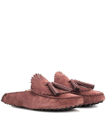 Tod's Gommino Suede Slippers Brown oyS3YVIt6G